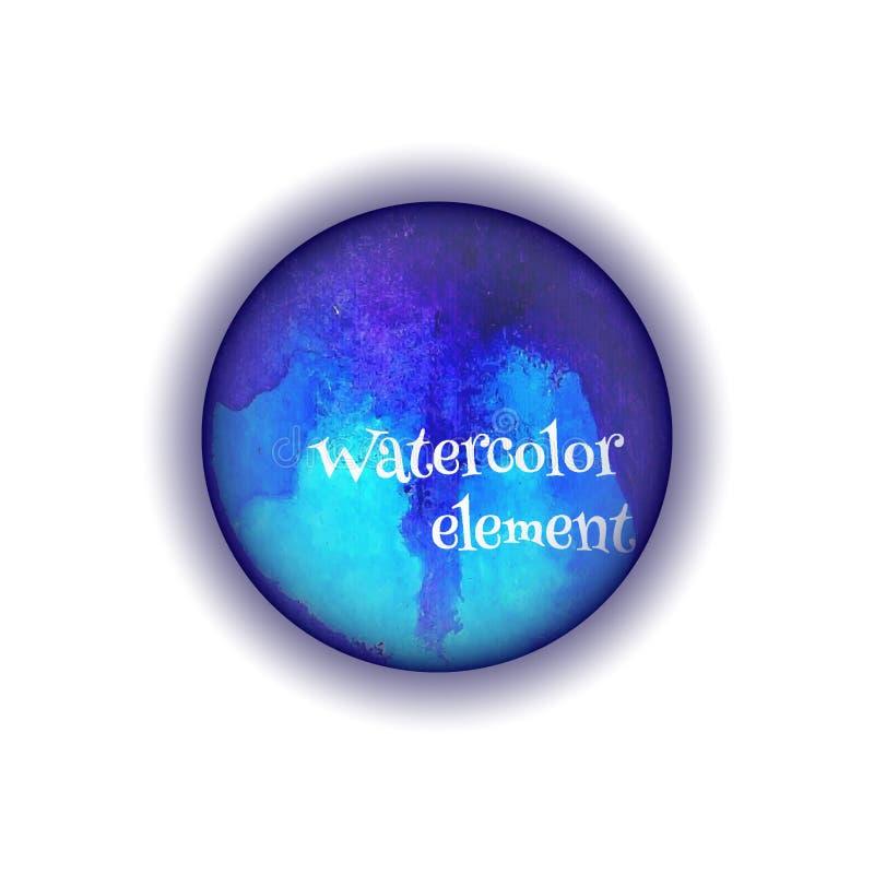 Розовый круг акварели, элемент дизайна вектора стоковое изображение