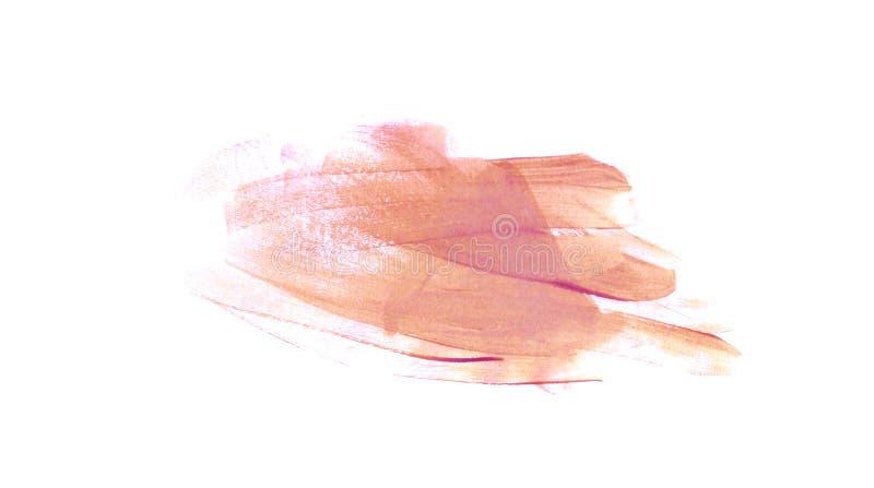 Розовый мазок с краской масла, щеткой акварели иллюстрация вектора
