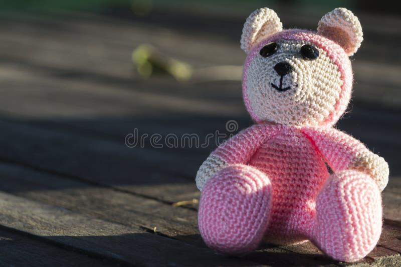 Розовый медведь стоковые фото