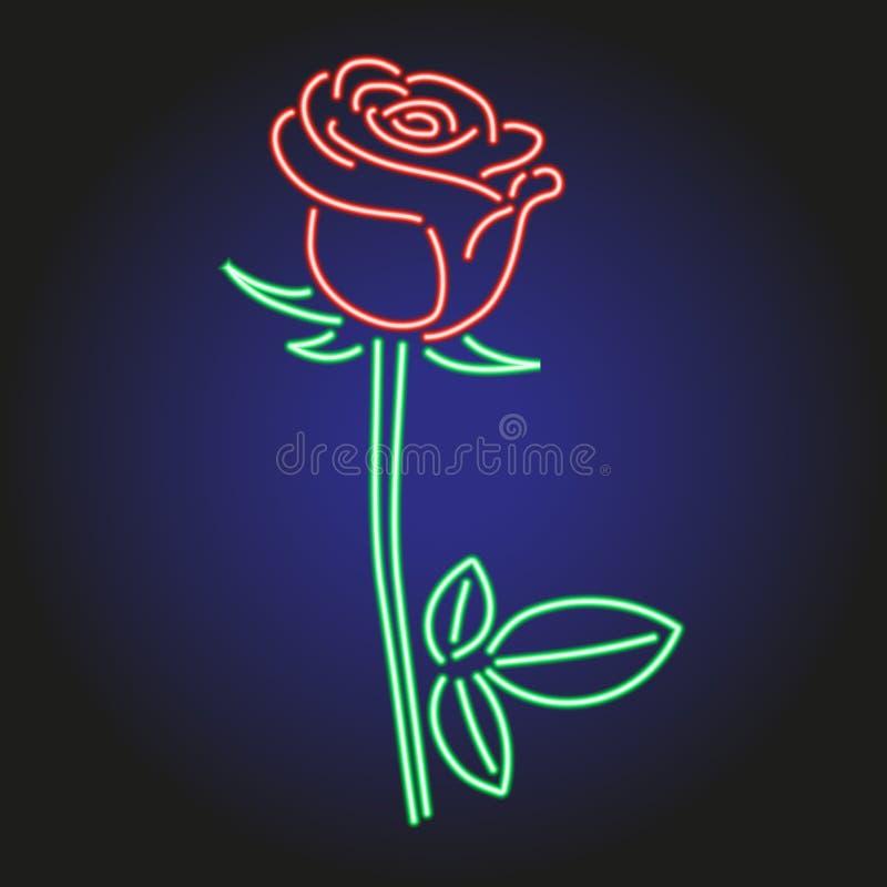 Розовый неоновый накалять на темной иллюстрации вектора предпосылки иллюстрация вектора