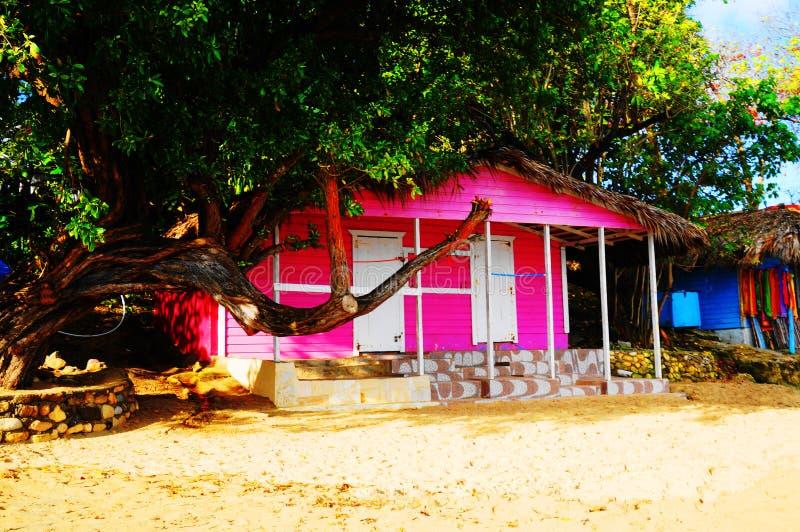 Розовый дом стоковое фото