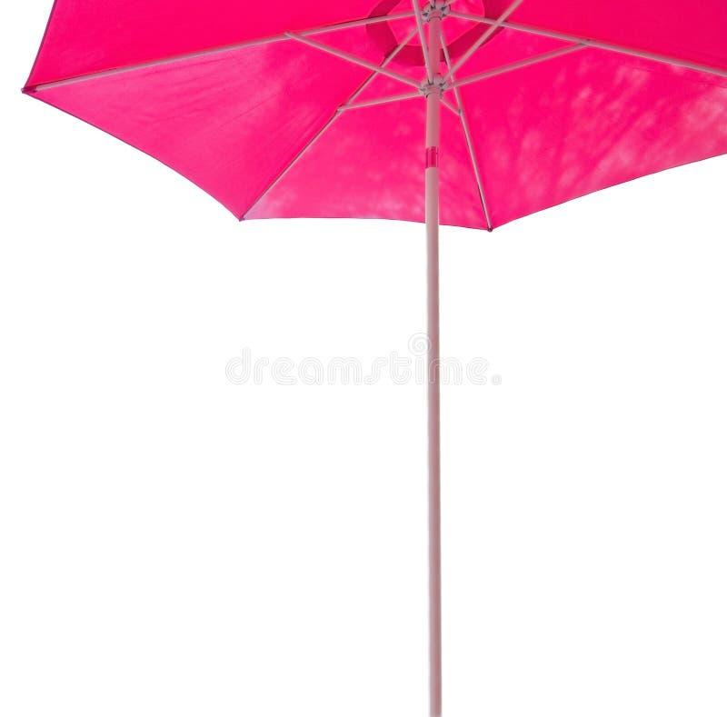 Розовый допустимый предел парасоля стоковое изображение