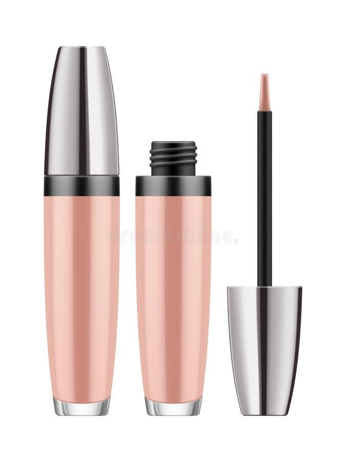 Розовый лоск губы - реалистический пакет бесплатная иллюстрация