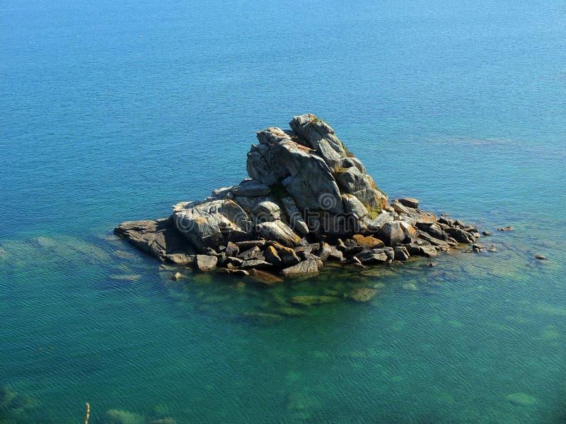 Розовый островок побережья Granit стоковые изображения