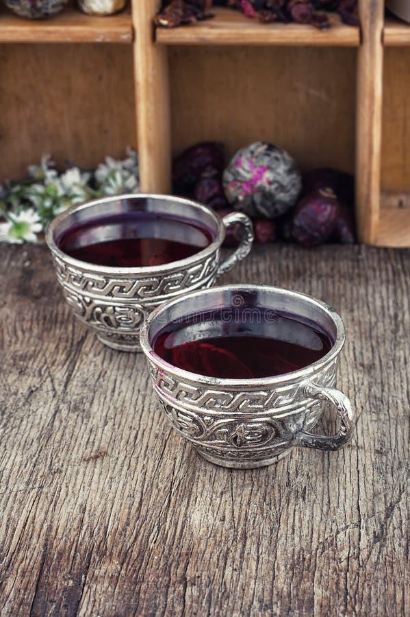 розовый суданский чай стоковая фотография