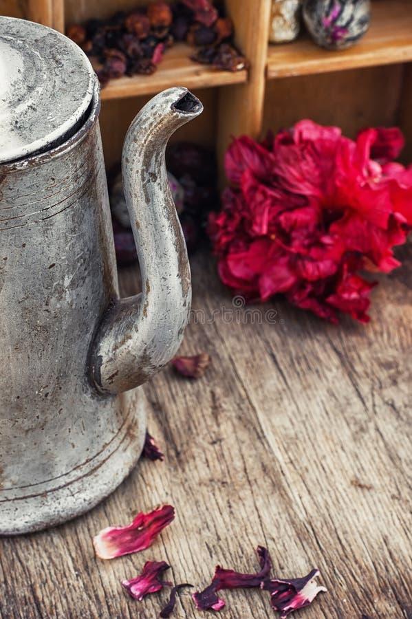 розовый суданский чай стоковая фотография rf