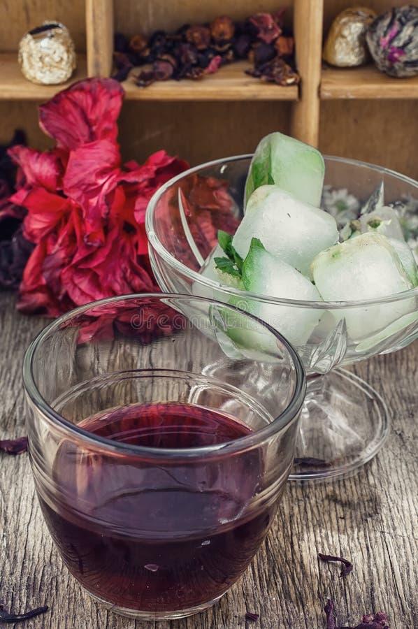 розовый суданский чай стоковые изображения rf