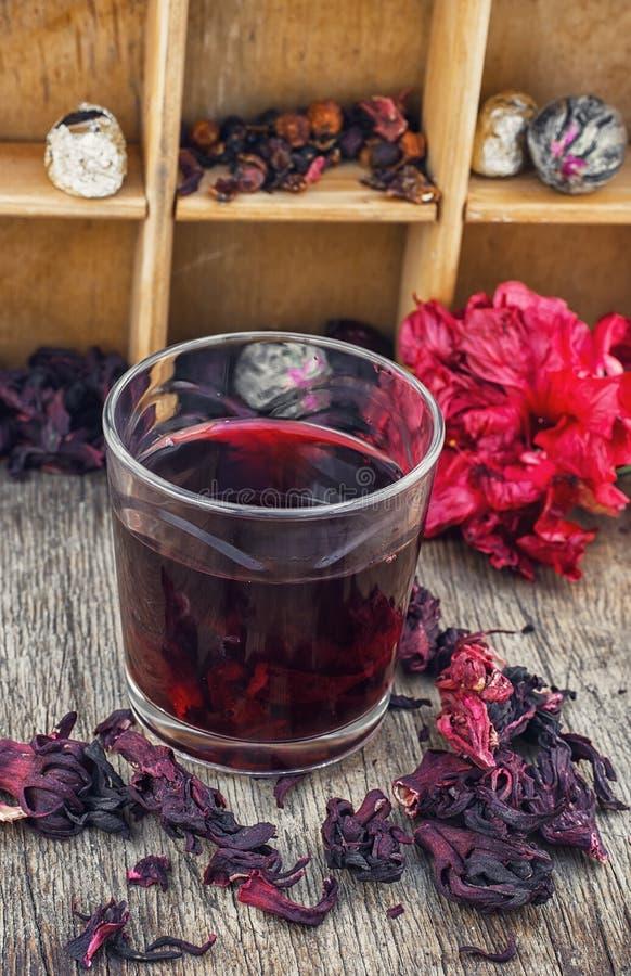 розовый суданский чай стоковое изображение rf