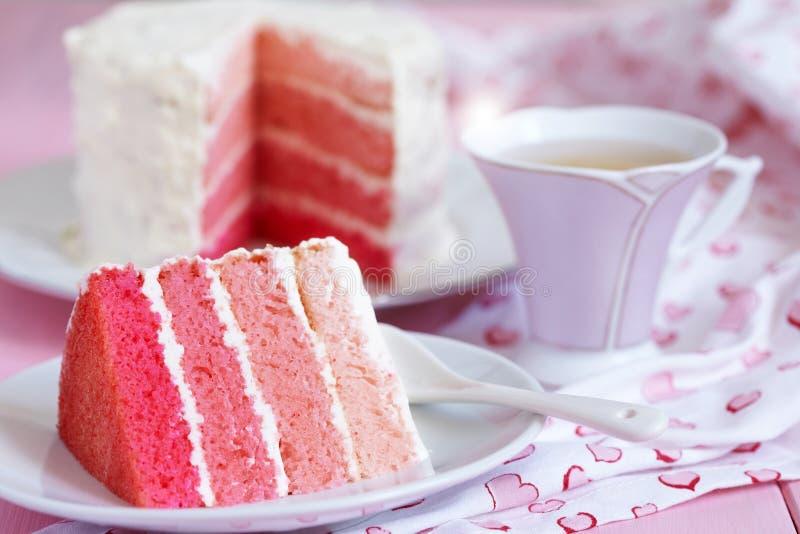 Розовый торт Ombre стоковое изображение rf