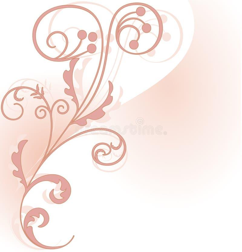 Розовый флористический угловойой элемент бесплатная иллюстрация