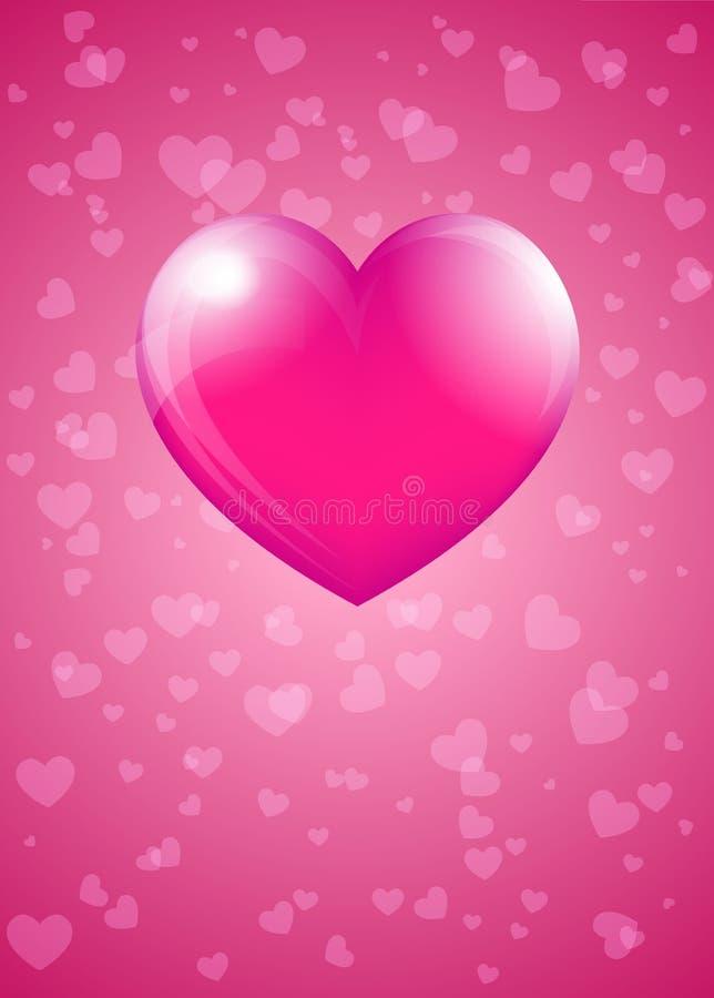 Розовый Харт иллюстрация штока