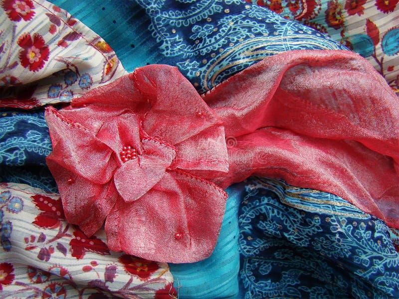 Розовый цветок от работы ovorcheskaya ткани первоначально стоковое фото rf
