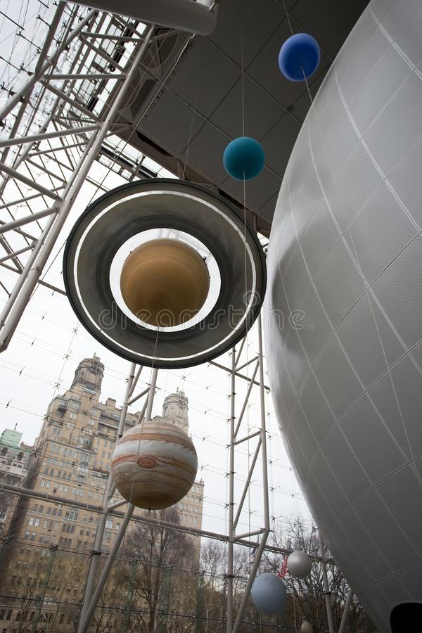 Розовый центр для земли и космоса, Нью-Йорка стоковые фото
