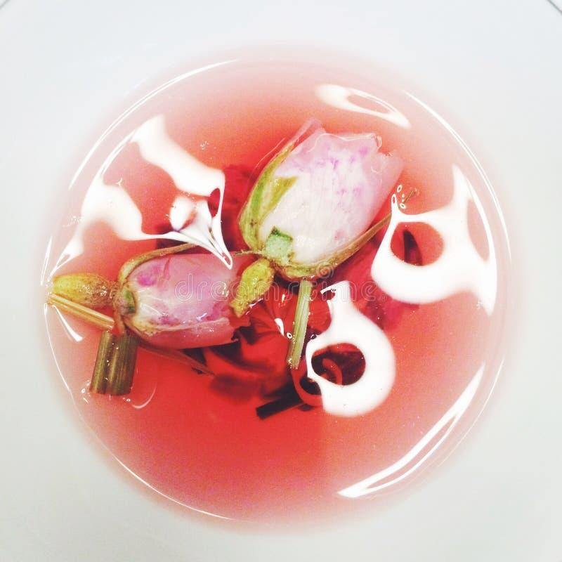 розовый чай стоковая фотография