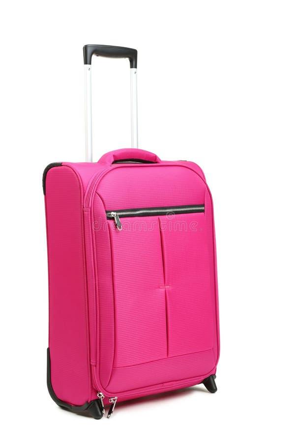 розовый чемодан стоковые фотографии rf