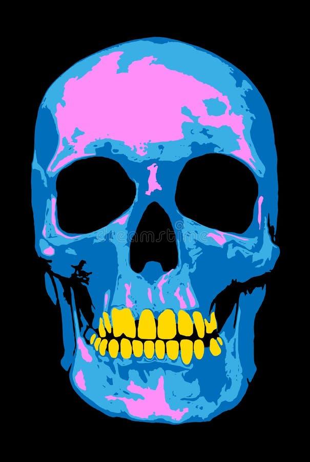 Розовый череп иллюстрация вектора