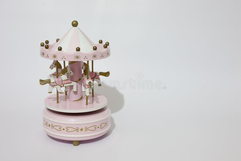 Розовый carousel стоковое изображение