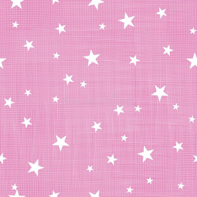 Розовым крошечным картина повторения звезд текстурированная бельем стоковое фото