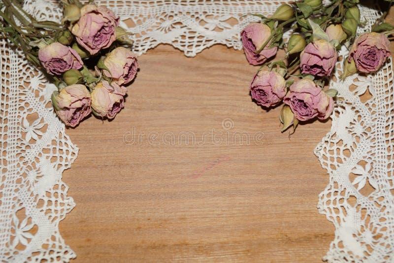 Розы вянут и шнуруют стоковая фотография