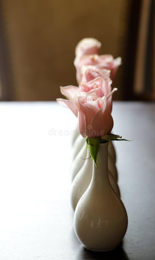 Розы в вазах стоковые фото