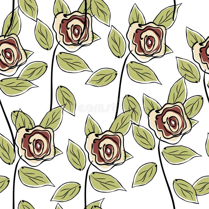 розы картины безшовные иллюстрация вектора