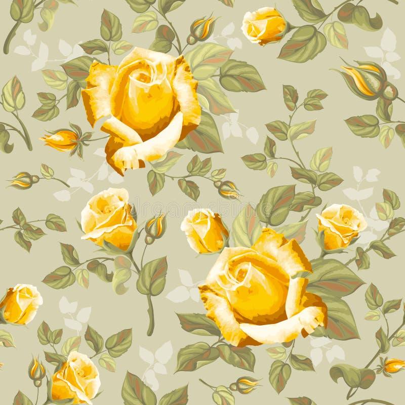 розы картины цветка ретро безшовные бесплатная иллюстрация