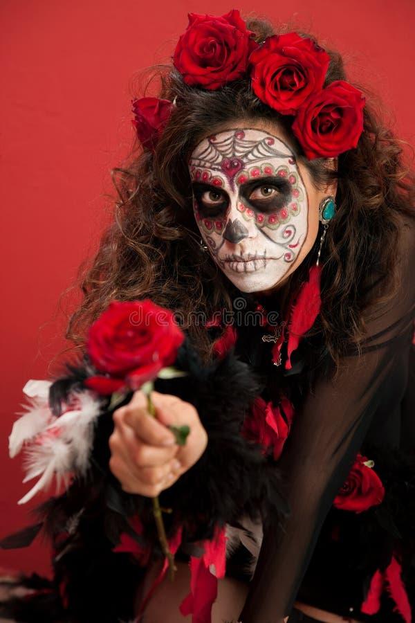 розы повелительницы facepaint стоковые фото