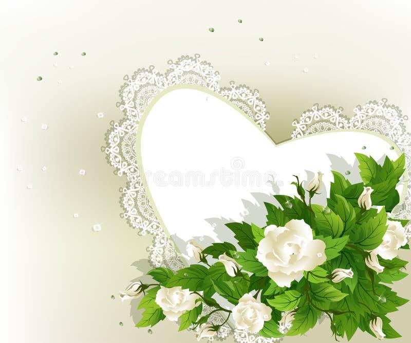 розы предпосылки белые иллюстрация вектора