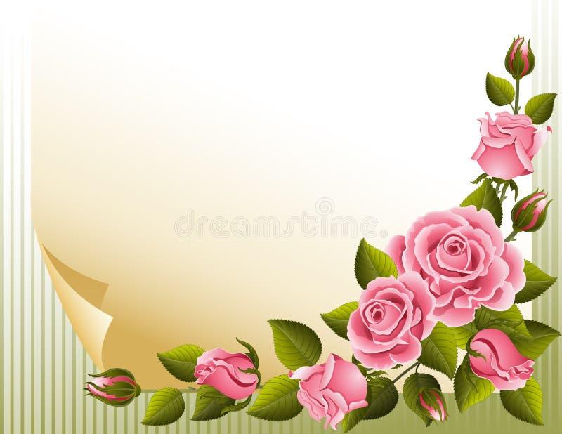 розы предпосылки иллюстрация вектора