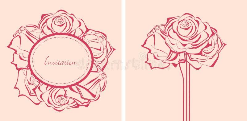 розы приглашений пука иллюстрация вектора