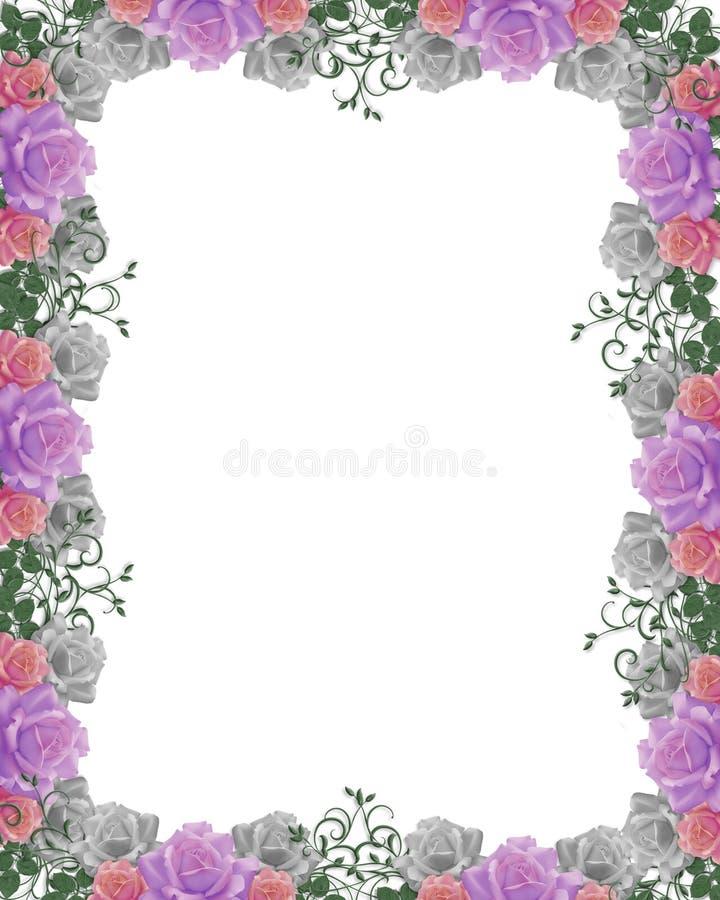 розы приглашения граници wedding иллюстрация штока
