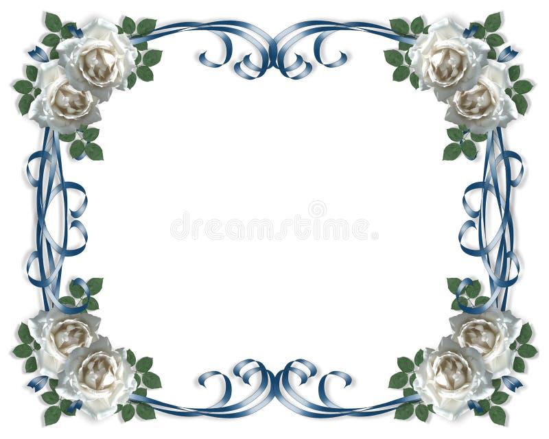 розы приглашения карточки wedding белизна иллюстрация вектора