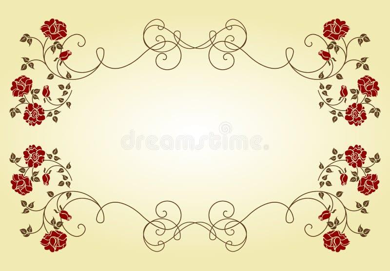 розы рамки ретро бесплатная иллюстрация