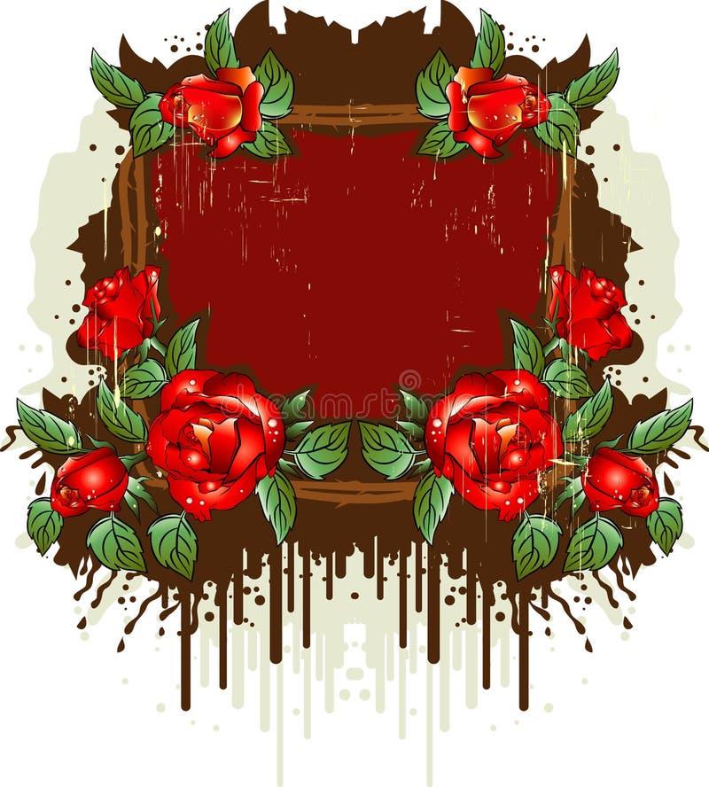 розы рамки ретро иллюстрация вектора