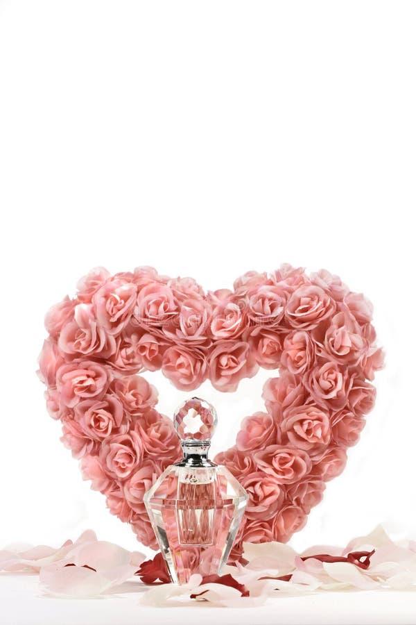 розы сердца бутылки кристаллические стоковые фото