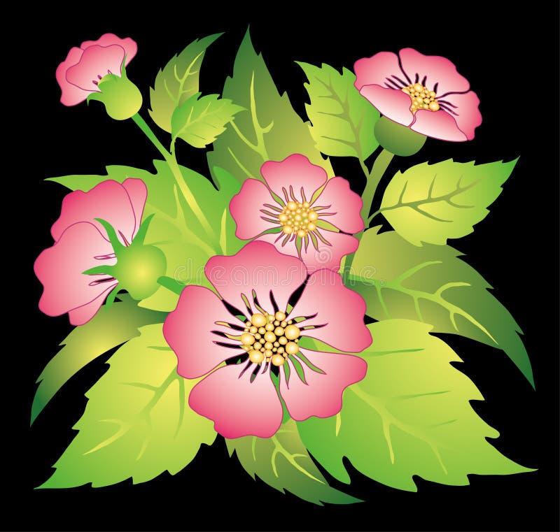 розы собаки иллюстрация вектора