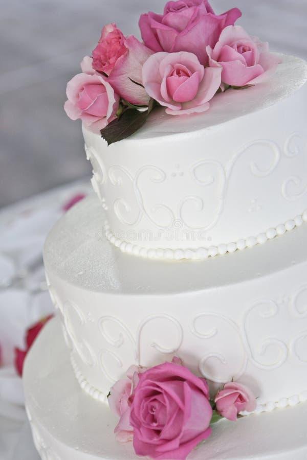 розы торта розовые wedding стоковые изображения rf