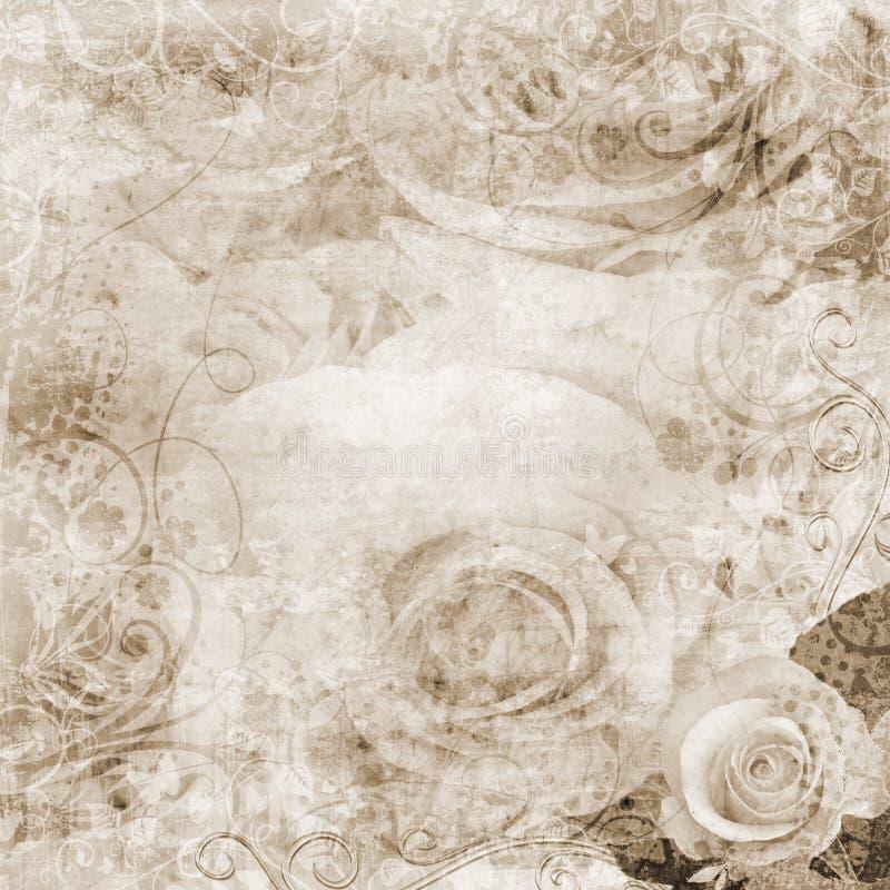 розы grunge предпосылки бесплатная иллюстрация