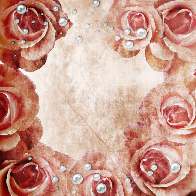 розы grunge предпосылки красивейшие стоковое фото rf