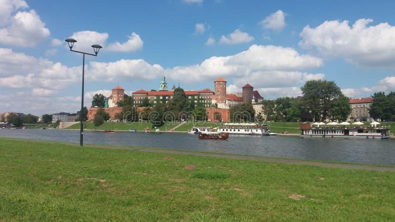 рокируйте wawel krakow средневековое мемориальное Польши истории стоковые фотографии rf