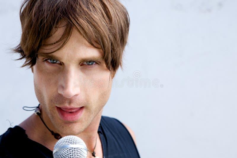рок-звезда mic стоковое изображение rf