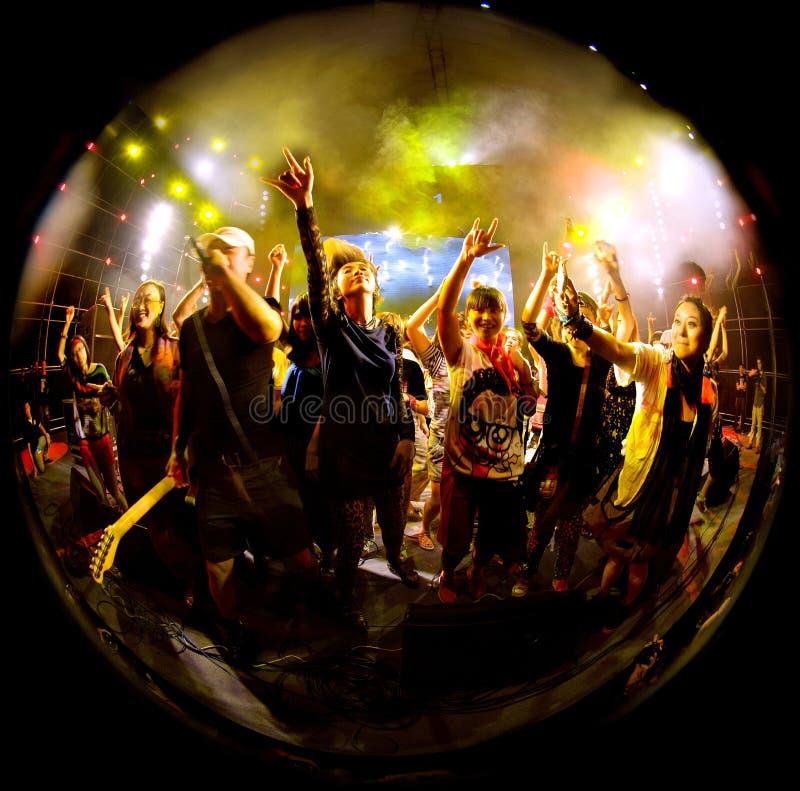 Рок-концерт стоковые фото