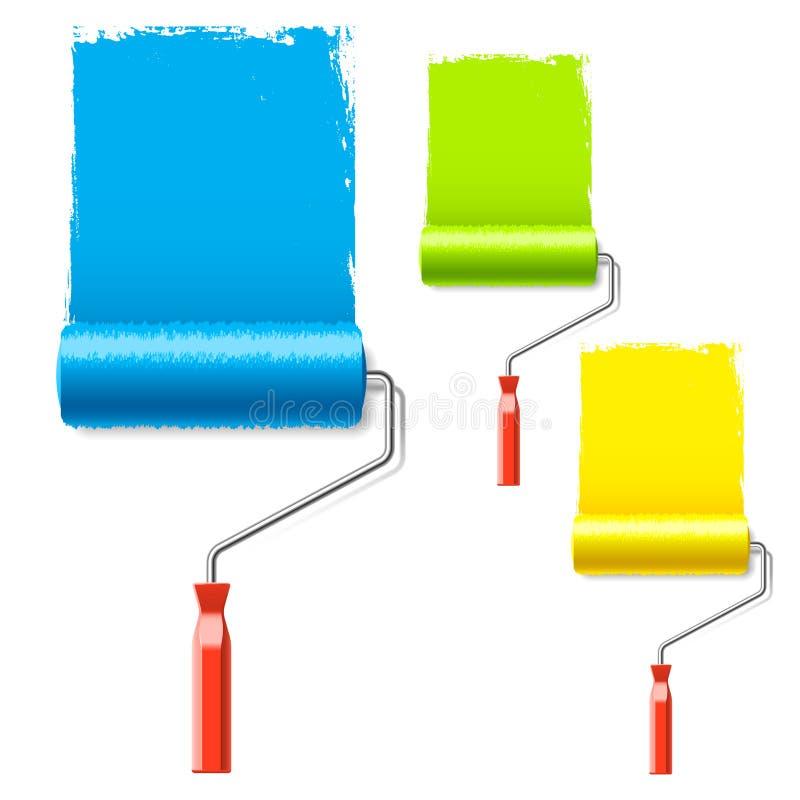 ролик краски иллюстрация вектора
