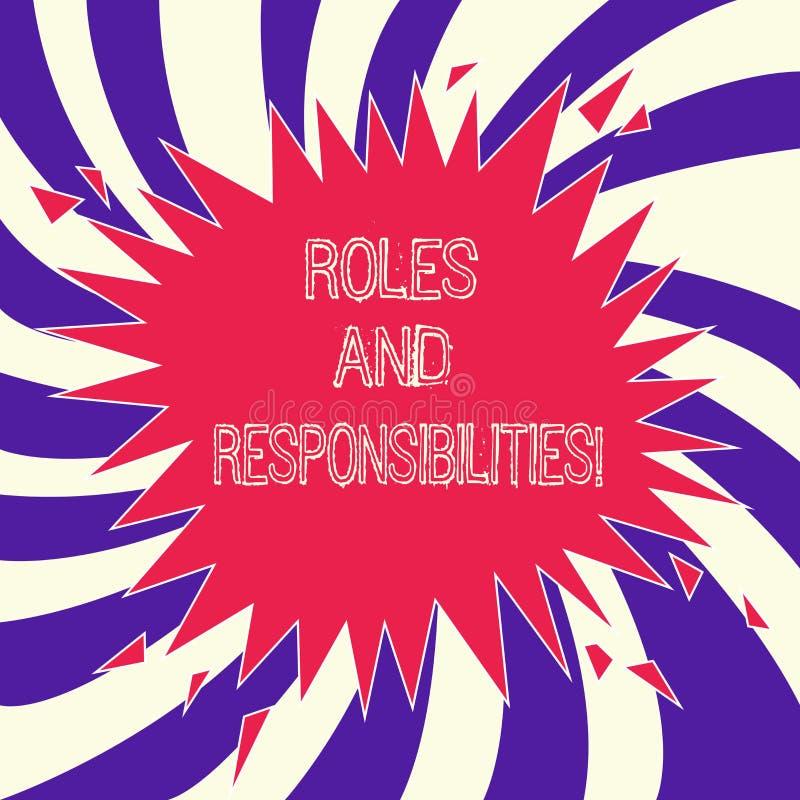 Роли и ответственности текста сочинительства слова Концепция дела для специфических обязательств задачи предпологаемых, что выпол иллюстрация штока