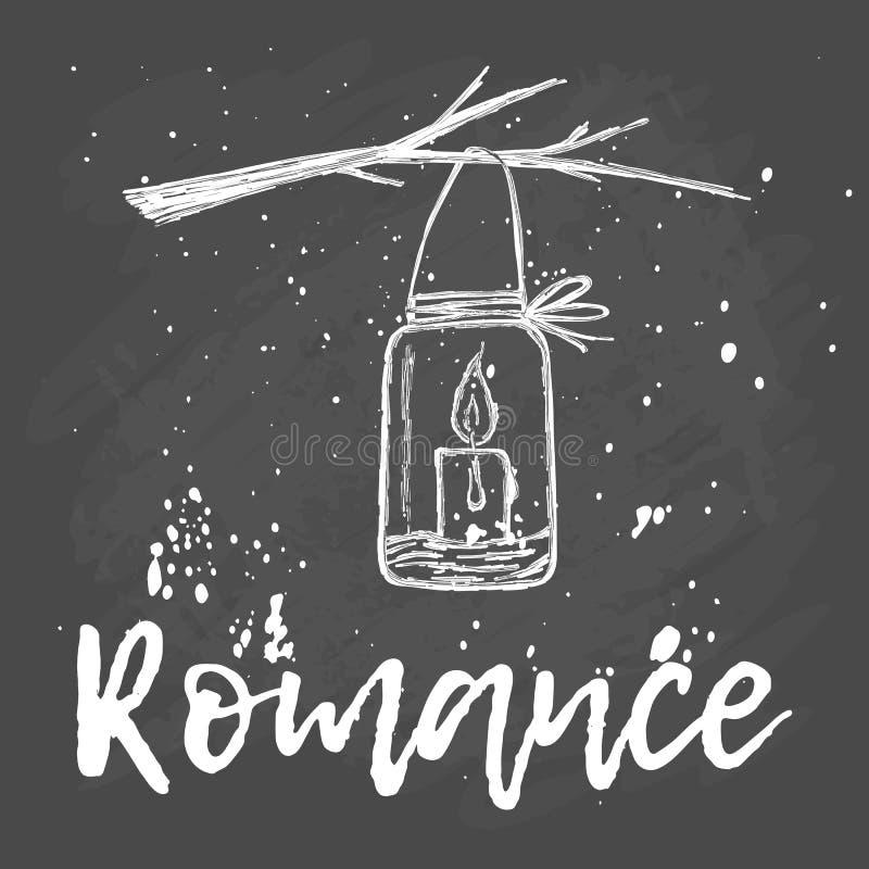 романско Свеча в ветви опарника бесплатная иллюстрация