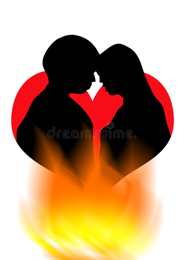 романс поцелуя Стоковое Изображение