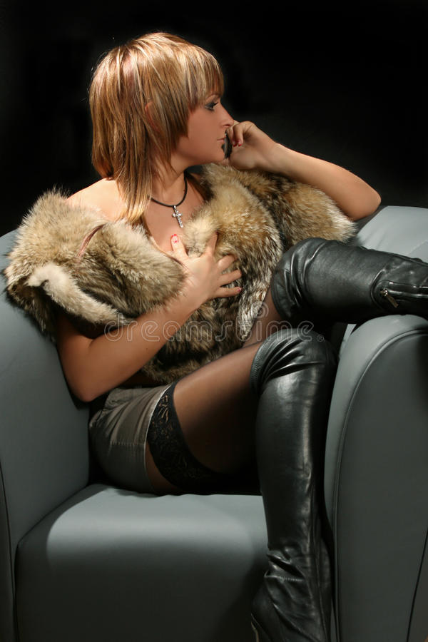 романтичная женщина стоковое изображение