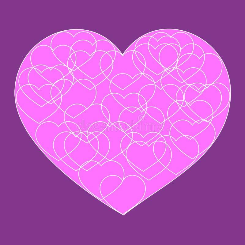 Романтичная карточка валентинки с большим розовым возлюбленн бесплатная иллюстрация