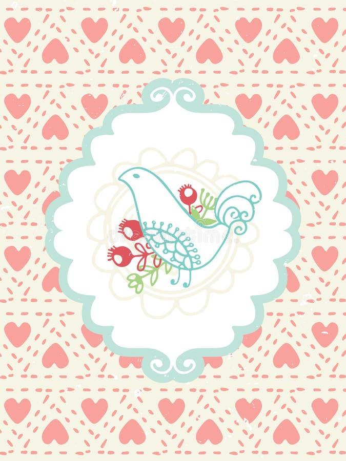 Романтичная карточка сбора винограда бесплатная иллюстрация
