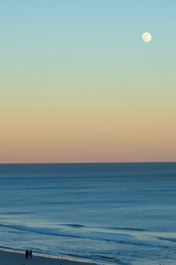Романтичная луна стоковое фото rf